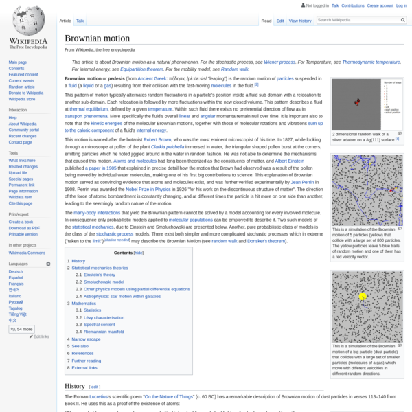 Brownian motion - Wikipedia