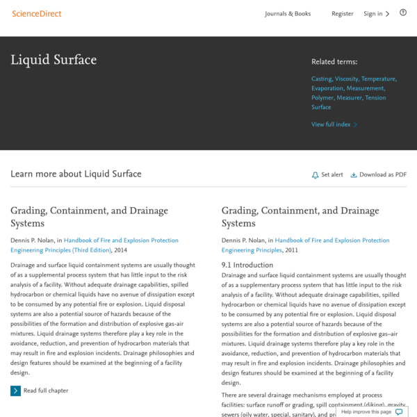 Liquid Surface - an overview | ScienceDirect Topics