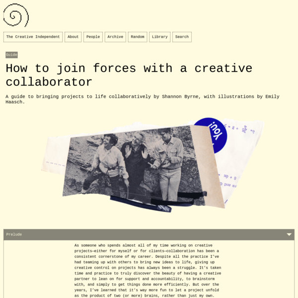 Guide: How to join forces with a creative collaborator