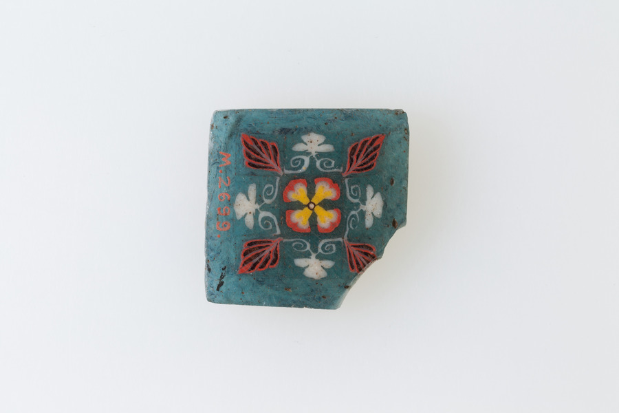Inlay, floral square, Egypt, 1st - 3rd Century A.D.