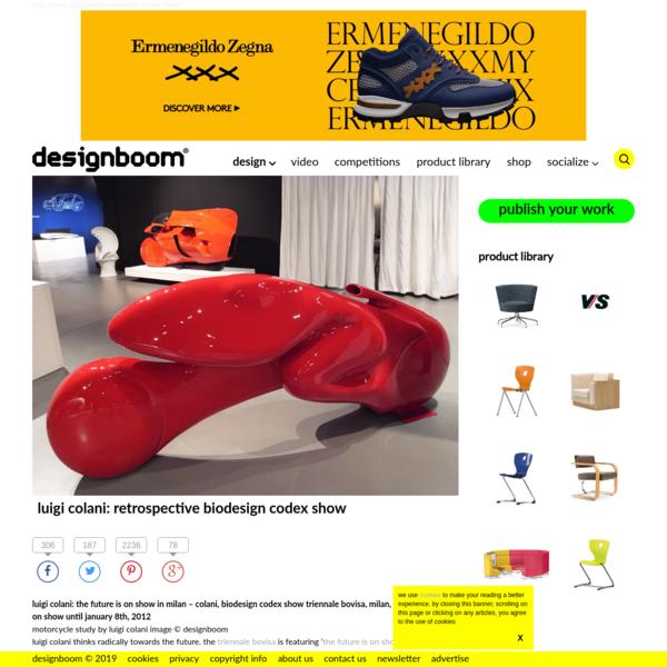 luigi colani: retrospective biodesign codex show