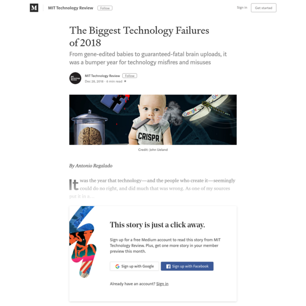 The Biggest Technology Failures of 2018 - MIT Technology Review - Medium