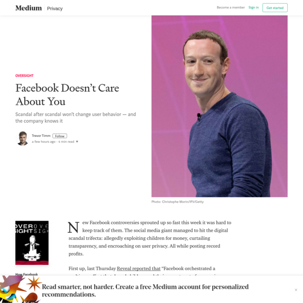 Facebook Doesn't Care About You - Oversight - Medium