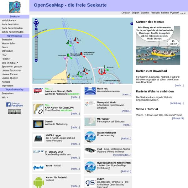 OpenSeaMap: Startseite