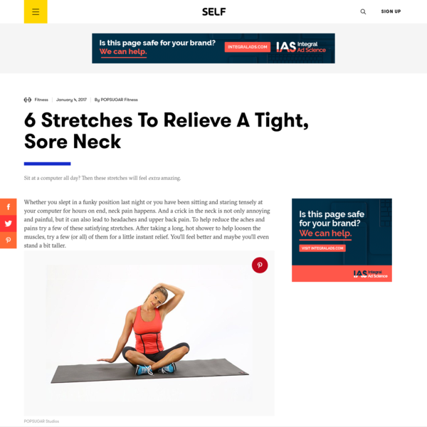 6 Stretches To Relieve A Tight, Sore Neck