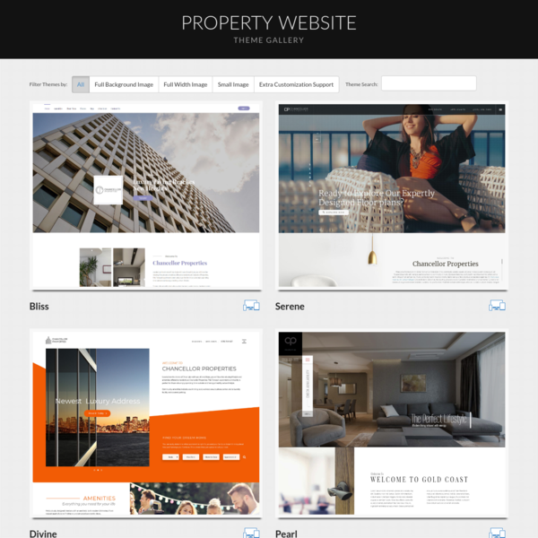 Property Website Template Gallery