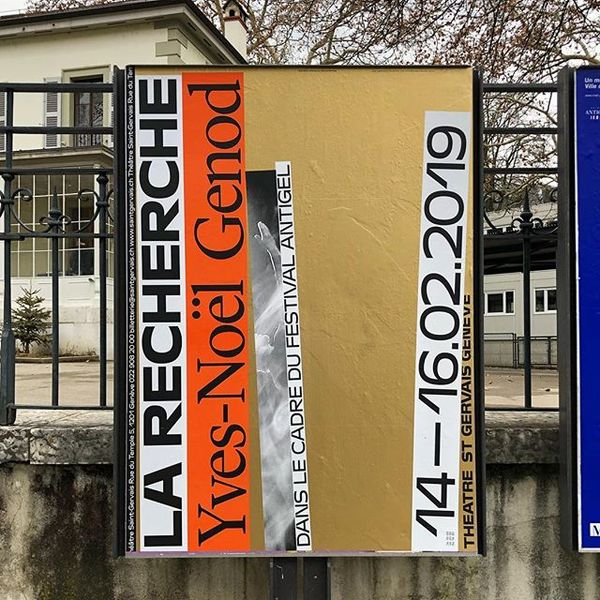 Yves-Noël Genod #larecherche #gold #poster for @sgg_theatre designed with @matteo_venet and #marcelproust 🤓🤓📚 print by @duo_...