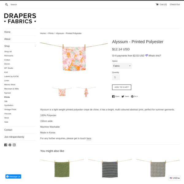 Alyssum - Printed Polyester