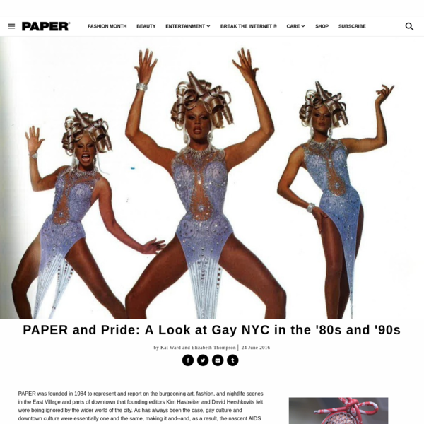 PAPER and Pride: A Look at Gay NYC in the '80s and '90s