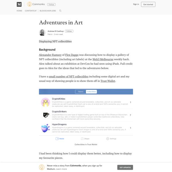 Adventures in Art - Coinmonks - Medium