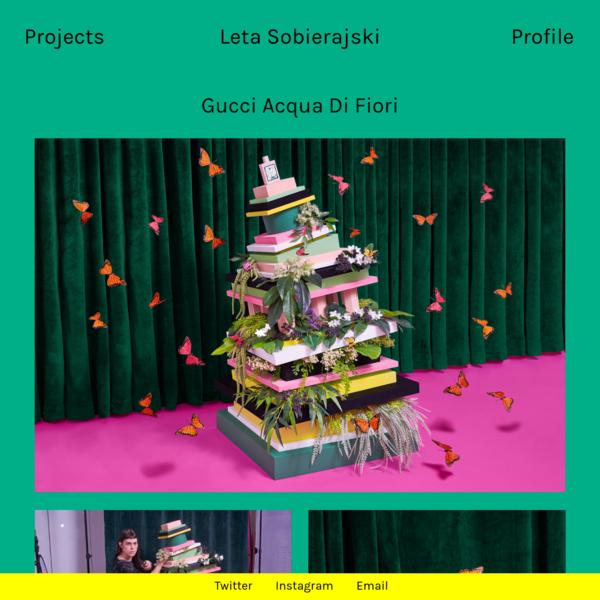 Gucci Acqua Di Fiori Client Gucci Category Campaign Year 2018 Art Direction Leta Sobierajski Photography Leta...