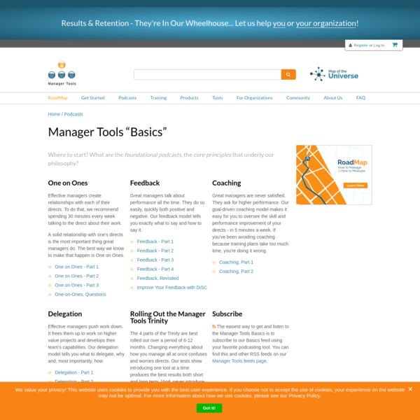 """Manager Tools """"Basics"""" 