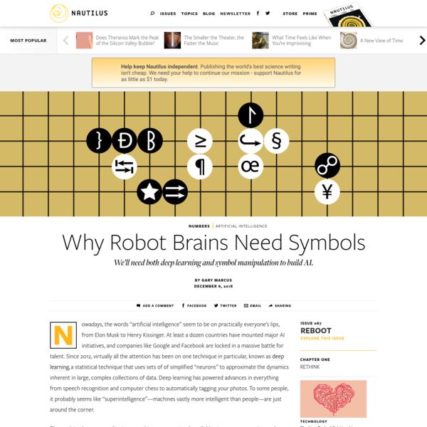 Why Robot Brains Need Symbols - Issue 67: Reboot - Nautilus