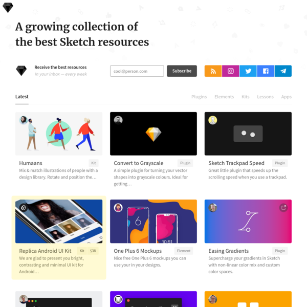 Sketch for Designrs finds you the best and most useful Sketch resources around. We want to make your work easier, and inspire you at the same time.