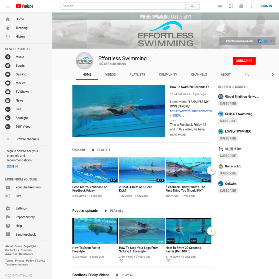 Videos to help you swim faster through better technique. We share the things we learn from coaching 100's of athletes online around the world and working wit...