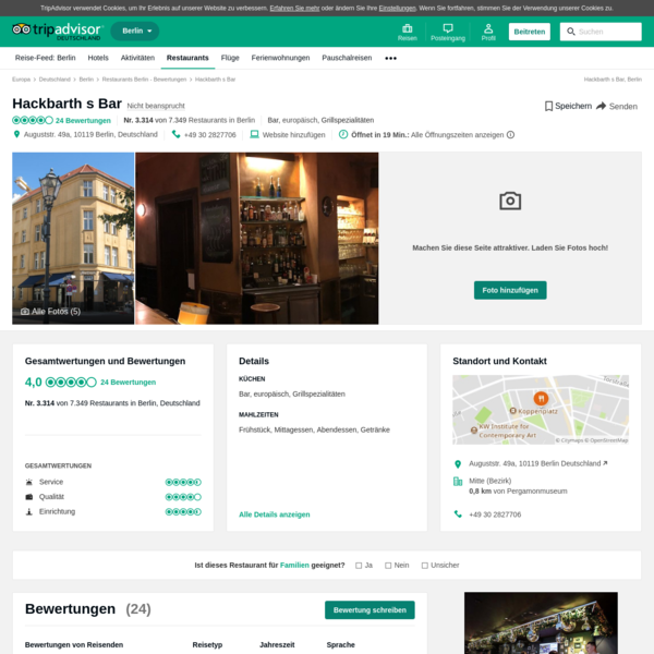 Hackbarth s Bar, Berlin - Mitte (Bezirk) - Restaurant Bewertungen, Telefonnummer & Fotos - TripAdvisor