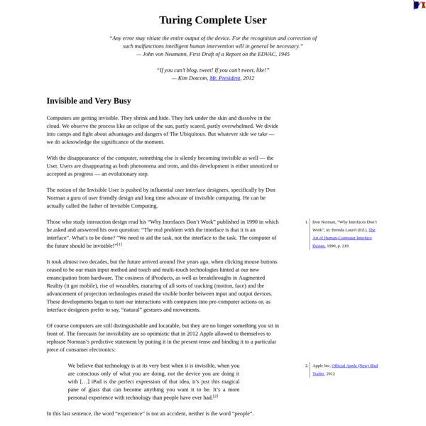 Turing Complete User
