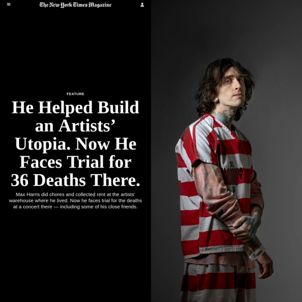 He Helped Build an Artists' Utopia. Now He Faces Trial for 36 Deaths There.