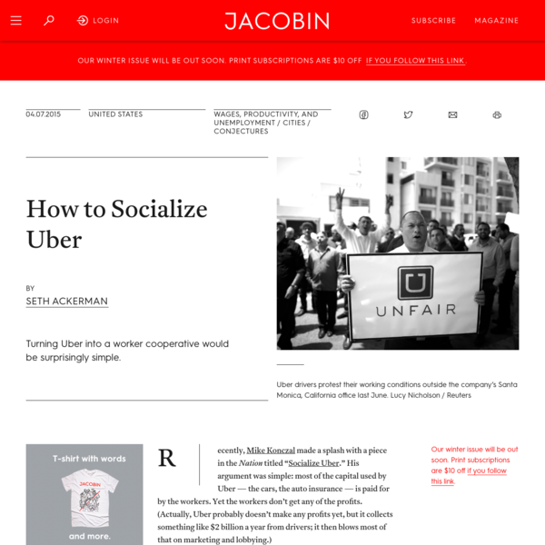 How to Socialize Uber