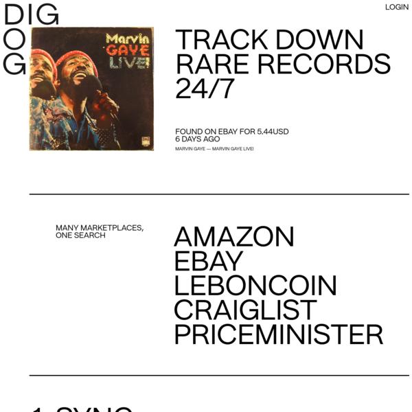 Digdog | Trackdown rare records 24/7