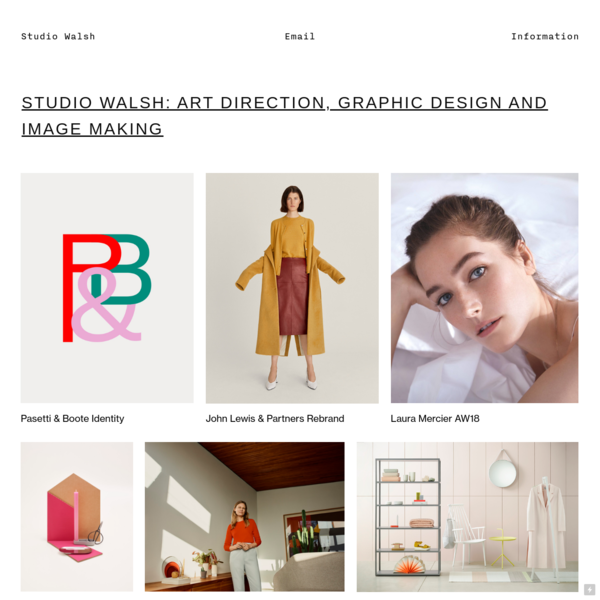 Studio Walsh - Art Direction, Graphic Design + Image Making