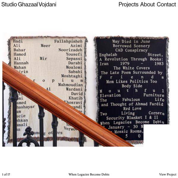 Studio Ghazaal Vojdani | Home