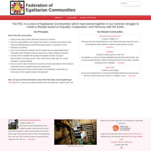 Home | Federation of Egalitarian Communities