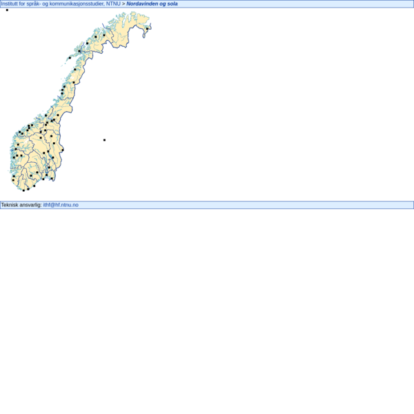 Nordavinden og sola: Opptak og transkripsjoner av norske dialekter