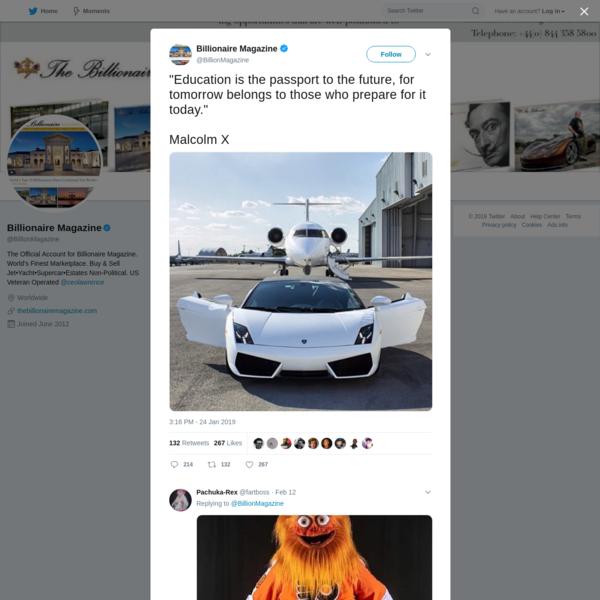 Billionaire Magazine on Twitter