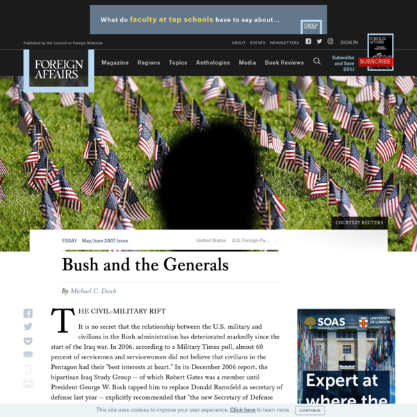 Bush and the Generals