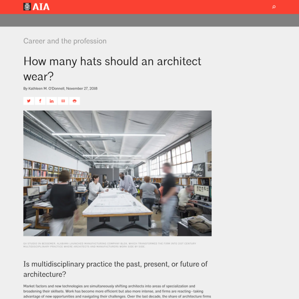 How many hats should an architect wear?