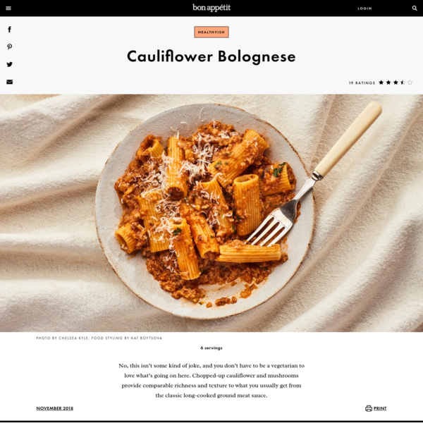Cauliflower Bolognese Recipe