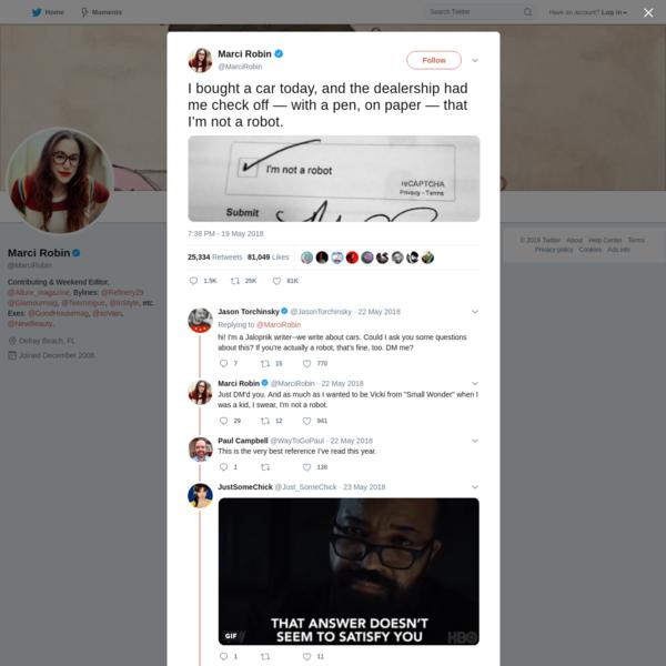 Marci Robin on Twitter