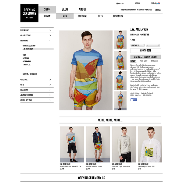 J.W. Anderson Landscape Printed Tee - MEN - J.W. Anderson - OPENING CEREMONY