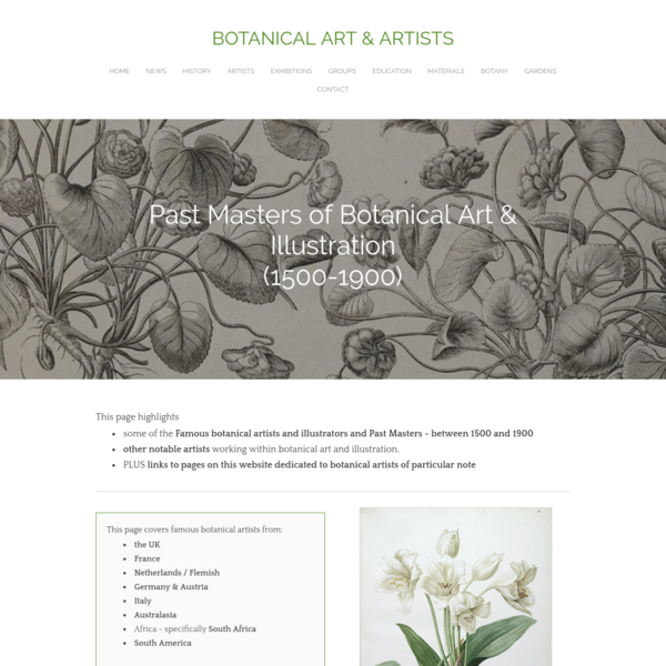 famous botanical artists