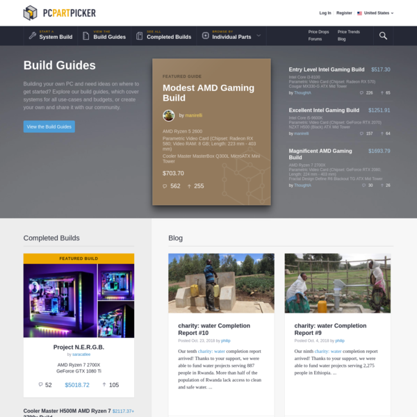Building your own PC and need ideas on where to get started? Explore our build guides, which cover systems for all use-cases and budgets, or create your own and share it with our community.