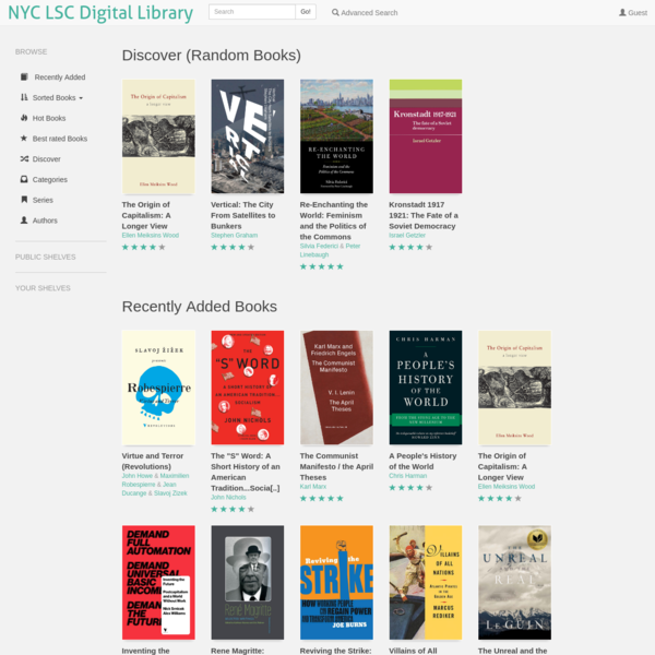 NYC LSC Digital Library | Recently Added Books