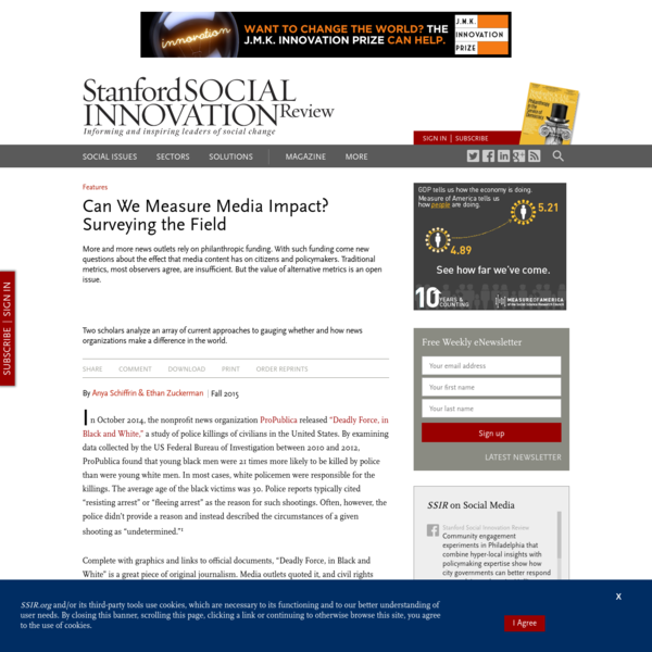 Can We Measure Media Impact? Surveying the Field (SSIR)