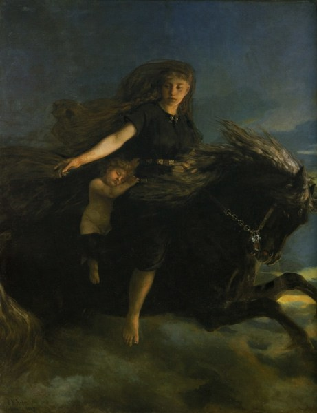 "In Norse mythology, Nótt (Old Norse ""night"") is night personified, grandmother of Thor and mother of Dagr (Old Norse ""day"")"