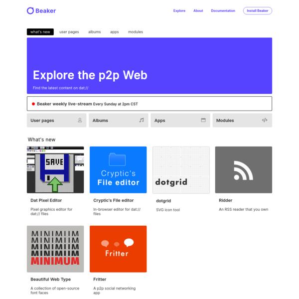 Explore - Beaker Browser