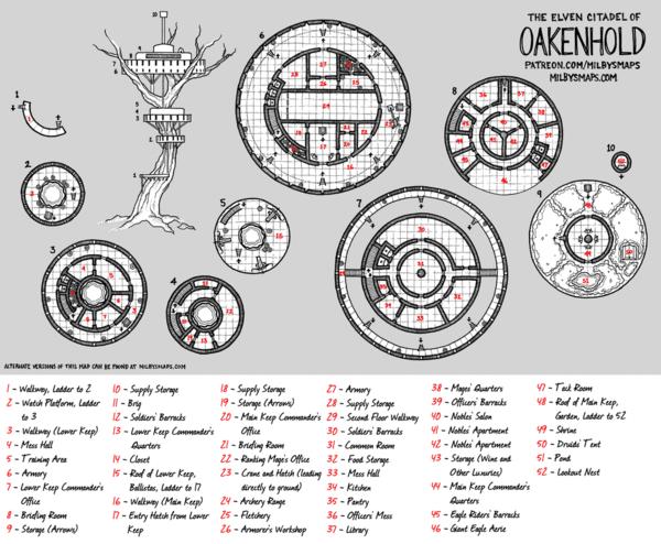 The Elven Citadel of Oakenhold