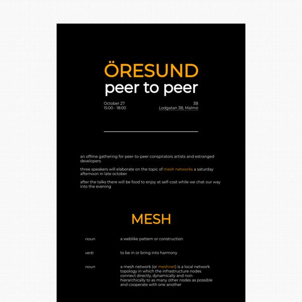 peer-to-peer ÖRESUND