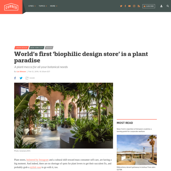 World's first 'biophilic design store' is a plant paradise