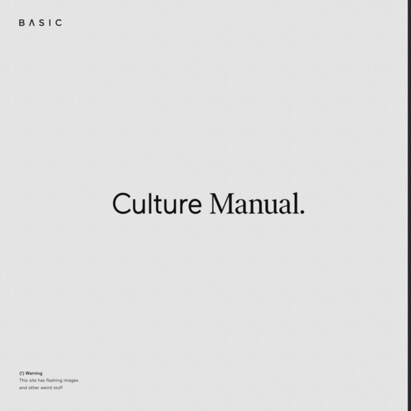 BASIC™ | Culture Manual | An Employee Guide to Being More Basic