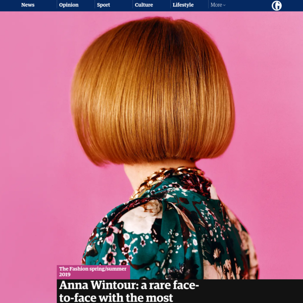 Anna Wintour: a rare face-to-face with the most important woman in fashion | Fashion | The Guardian