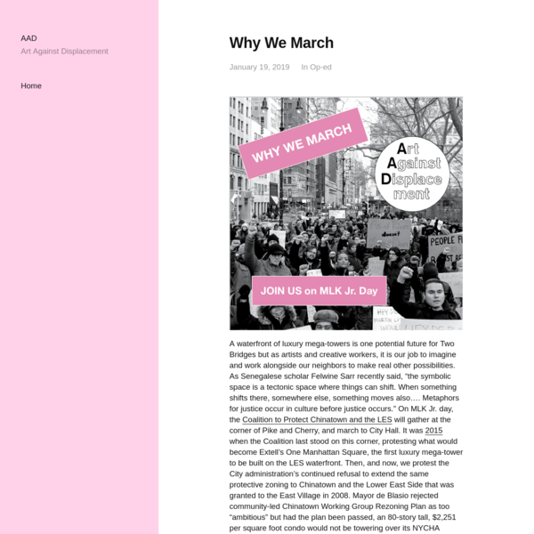 Why We March - AAD