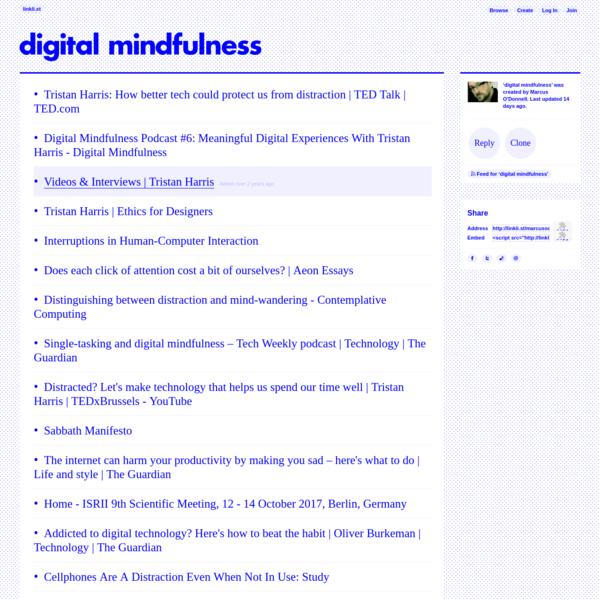 digital mindfulness · linkli.st