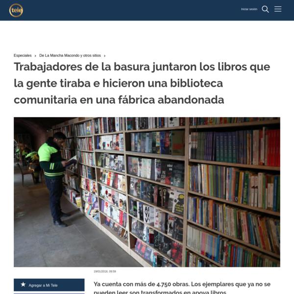 Trabajadores de la basura juntaron los libros que la gente tiraba e hicieron una biblioteca comunitaria en una fábrica aband...
