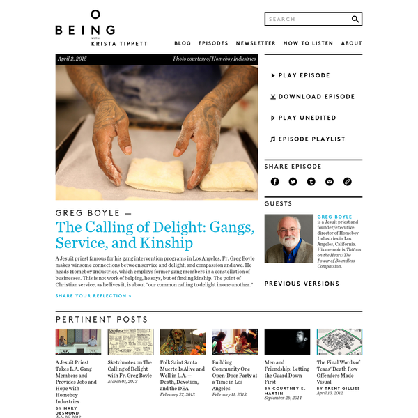 Fr. Greg Boyle - The Calling of Delight: Gangs, Service, and Kinship