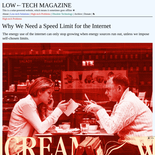 Why We Need a Speed Limit for the Internet